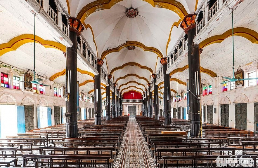 a beautiful 135 year old bui chu cathedral in nam dinh