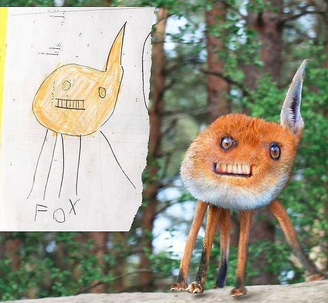 supper creative british dad uses photoshop to realize childrens drawings