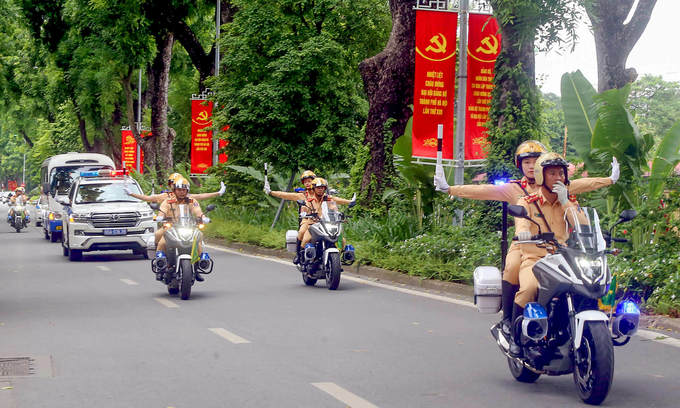 hanoi to impose traffic restrictions on 20 streets for 13th national party congress