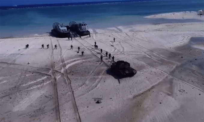 chinese military illegally conducts drills in hoang sa paracel archipelago