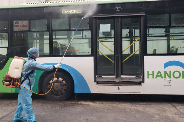 Hanoi lifts social distancing on public transport from March 8