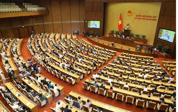 Newly-elected Prime Minister Pham Minh Chinh makes inauguration speech (Photo: VNA)