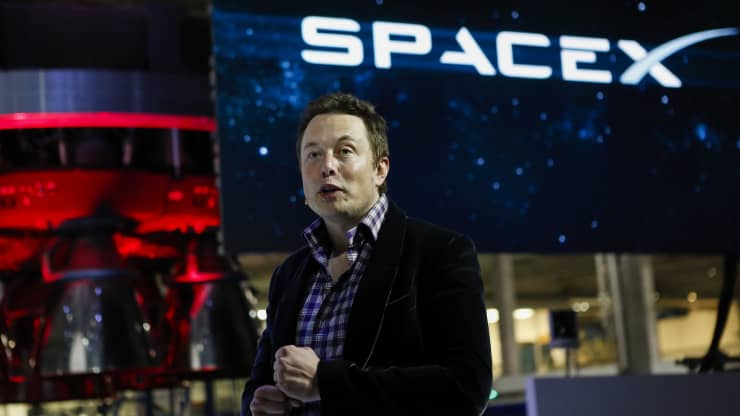 Elon Musk, CEO of Space Exploration Technologies Corp. Patrick T. Fallon | Bloomberg | Getty Images