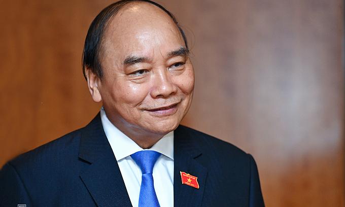 Vietnam's new state president Nguyen Xuan Phuc. Photo by VnExpress
