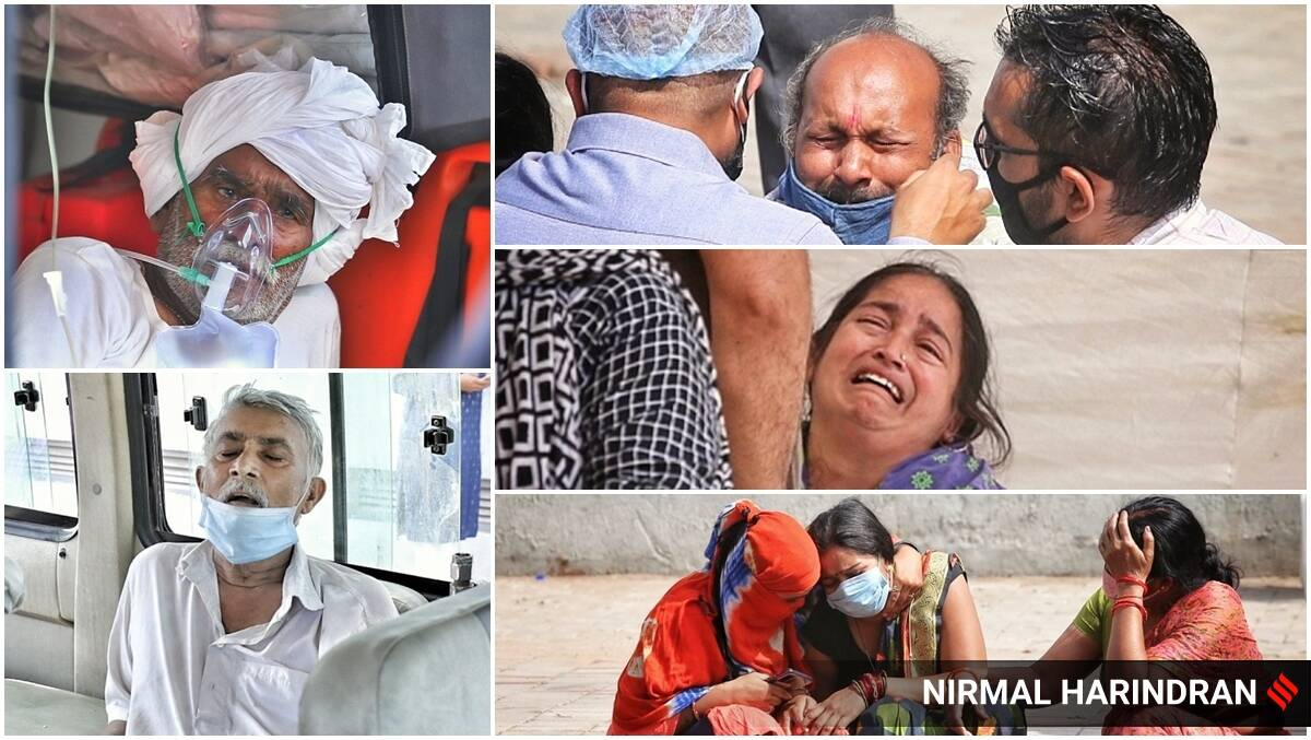 India recorded over 3 lakh cases for the second straight day on Friday, clocking 3,32,730 cases in the last 24 hours, the Union Health Ministry informed. (Express photos by Nirmal Harindran)