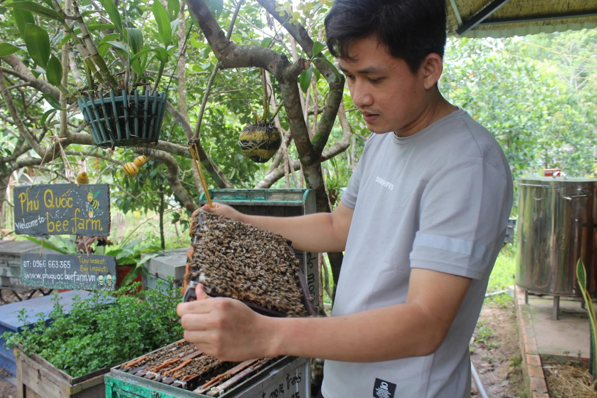 a Hung, a bee farmer on Phu Quoc island. Photo: Sen Nguyen