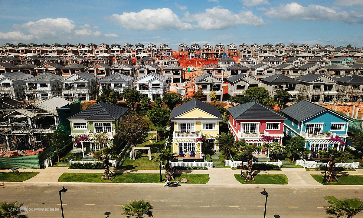 A housing project in the central province of Binh Thuan developed by Novaland. Photo by VnExpress/Quynh Tran.