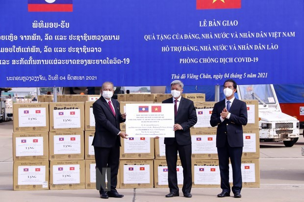 Laos thanks Vietnam for assistance in COVID-19 combat