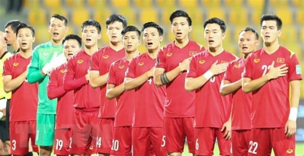 The Vietnamese national team advance to the third qualifiers of the 2022 FIFA World Cup for the first time. (Photo: VNA)
