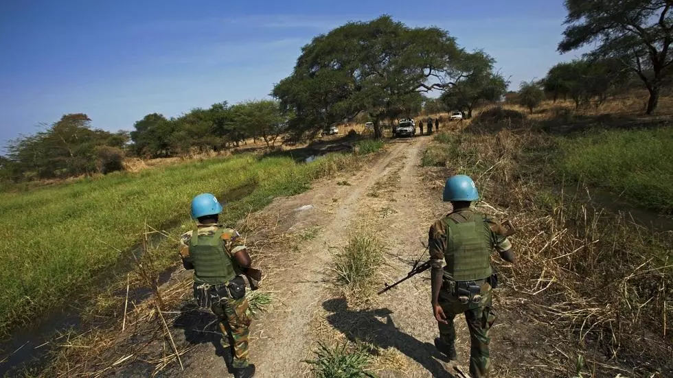 UN peacekeepers -- seen here in the disputed Abyei region on the border of Sudan and South Sudan in 2016 -- are facing a budgetary squeeze ALBERT GONZALEZ FARRAN AFP/File
