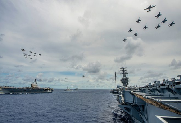 us sailors joining east sea south china sea exercise asked to wear face masks