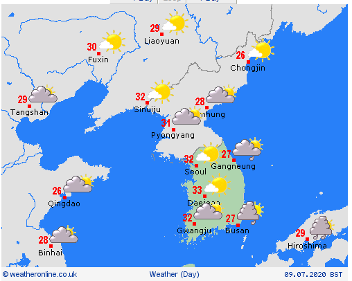 weather forecast for vietnam and asian countries on july 10