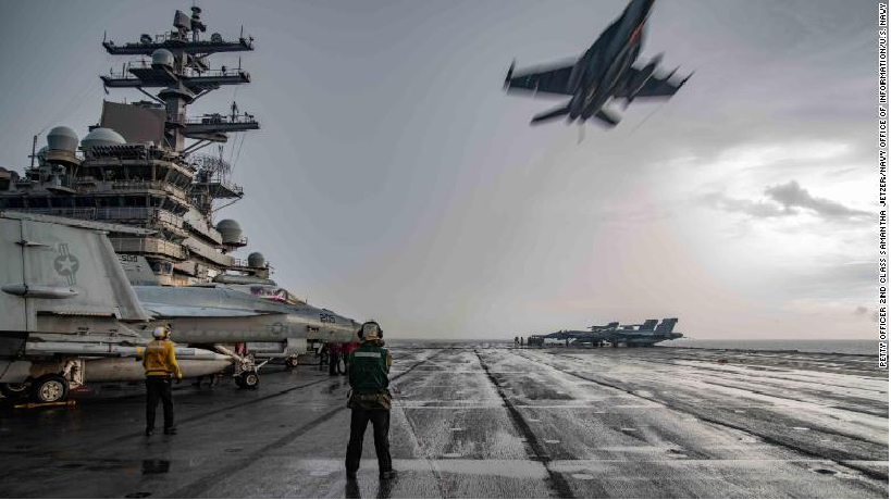 us navy aircraft carriers back in south china sea