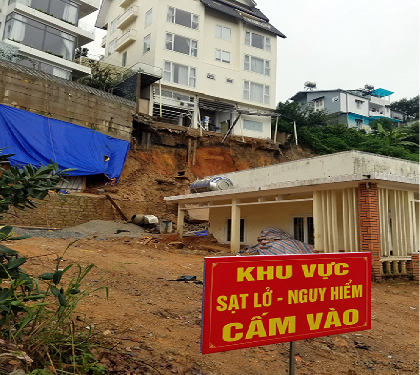 dozens tourists evacuated greenhouses blamed for erosion in da lat resort city