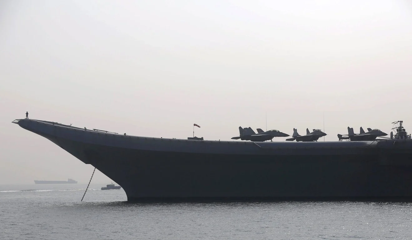 MiG-29 aircraft on the flight deck of India's first aircraft carrier INS Vikramaditya. Photo: Reuters