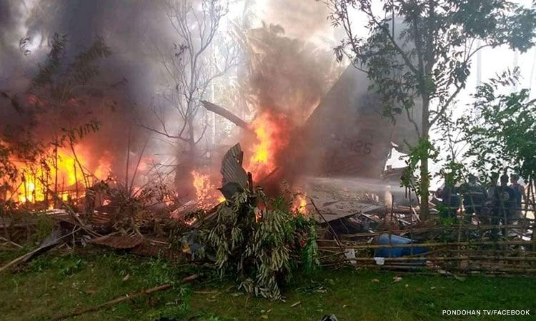 The death toll from the plane crash in Sulu climbs to 45, as authorities continue search and rescue operations. Officials say five military personnel are still unaccounted for.