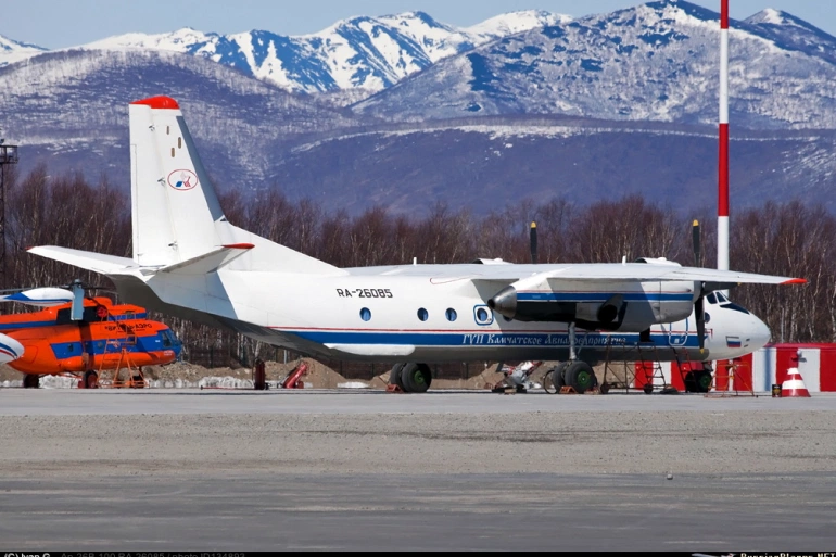 There were 22 passengers and six crew on board the Antonov An-26 twin-engined turboprop, which had been in operation since 1982 [File: Russia's Emergencies Ministry/Handout via Reuters]