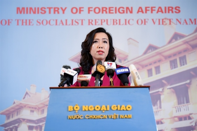 Spokeswoman of the Ministry of Foreign Affairs Lê Thị Thu Hằng. — VNA/