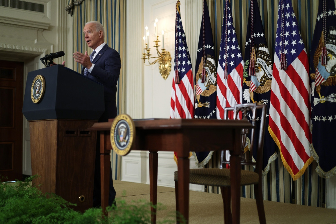 The Biden administration on Sunday upheld a Trump-era rejection of nearly all of China's significant maritime claims in the South China Sea. | Alex Wong/Getty Images