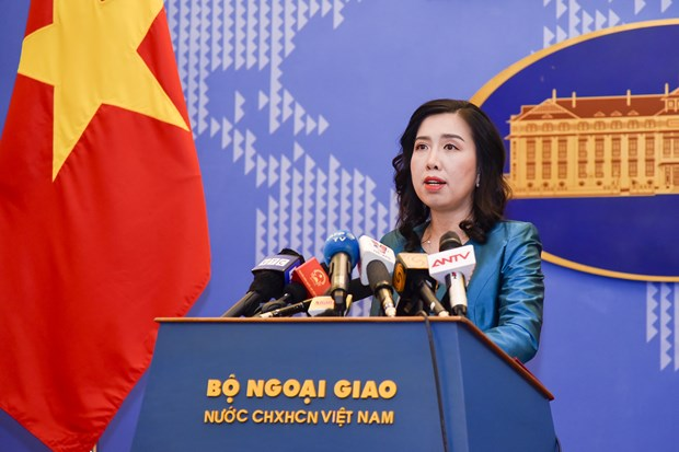 The Vietnamese Foreign Ministry's spokesperson Le Thi Thu Hang (Photo: VNA)