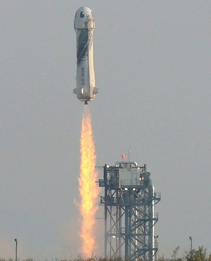 The New Shepard lifts off from a site near Van Horn, Texas © Joe Raedle/Getty