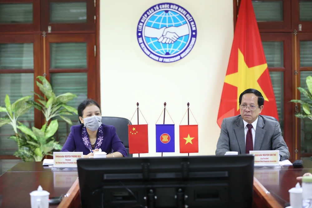 President of the Vietnam Union of Friendship Organisations (VUFO) Nguyen Phuong Nga, and Vice President of the Vietnam-China Friendship Association (VCFA) Nguyen Van Tho attended the event.