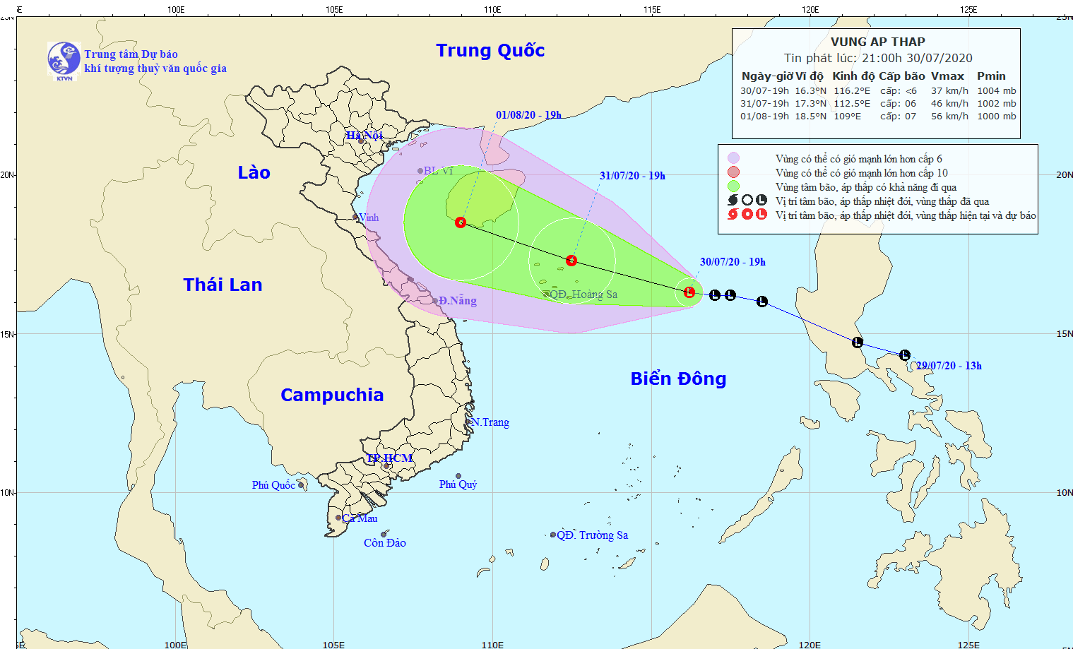 Vietnam weather August 1: Tropical depression to become storm, bringing heavy rains across country