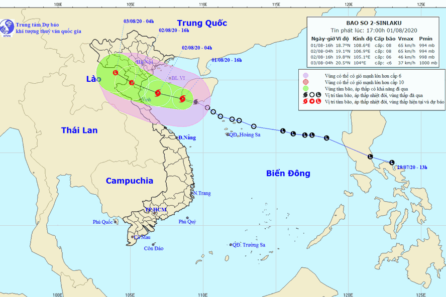 vietnam weather august 2 storm sinlaku heads toward northern north central regions