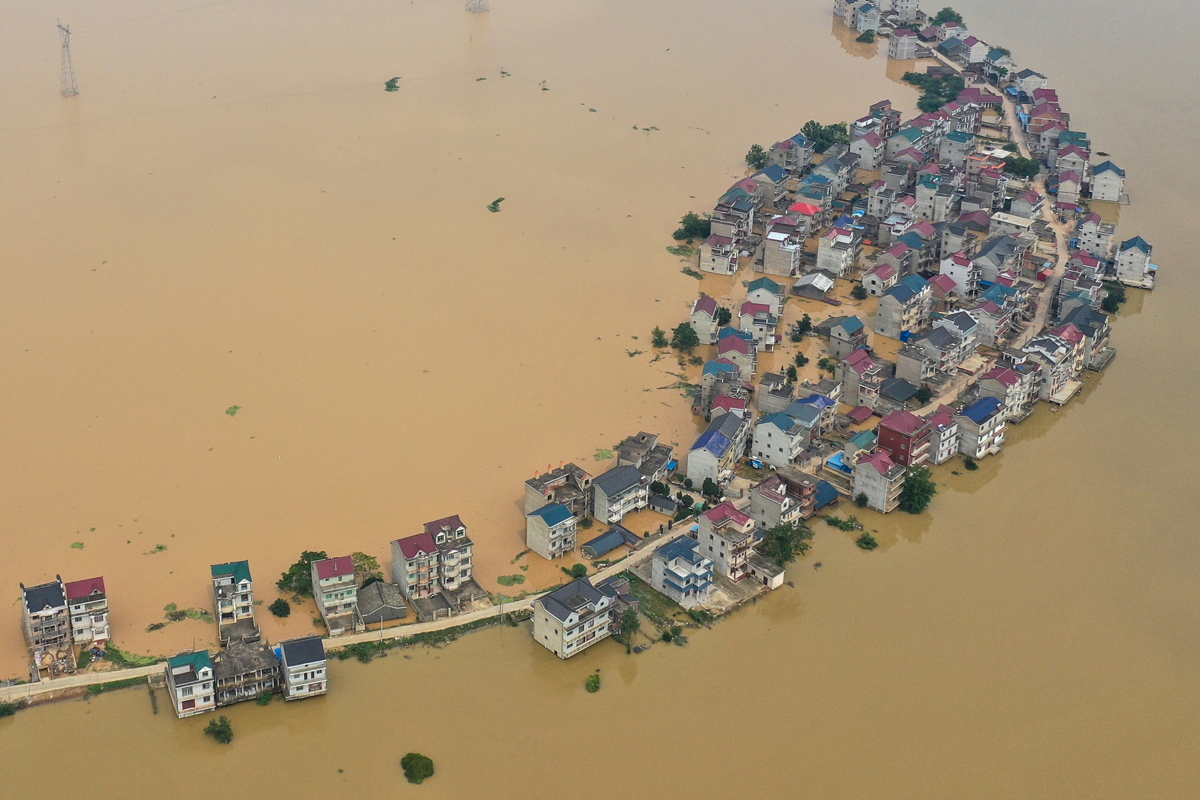 rain triggered floods affect nearly 55 million people in china
