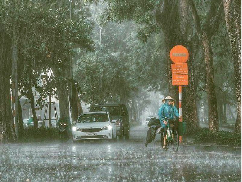 vietnam weather forecast widespread heavy rains to hit the north until august 19