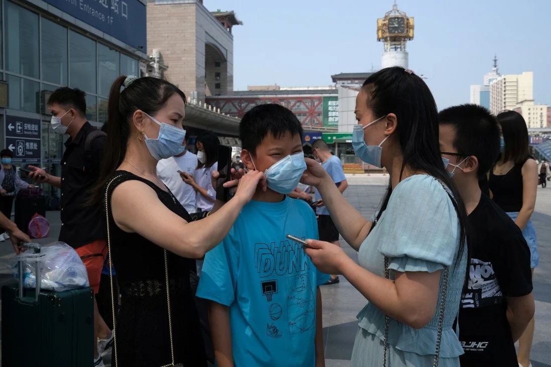 Travellers from Delta variant hotspots will need a green code on their phones to enter Beijing. Photo: Reuters