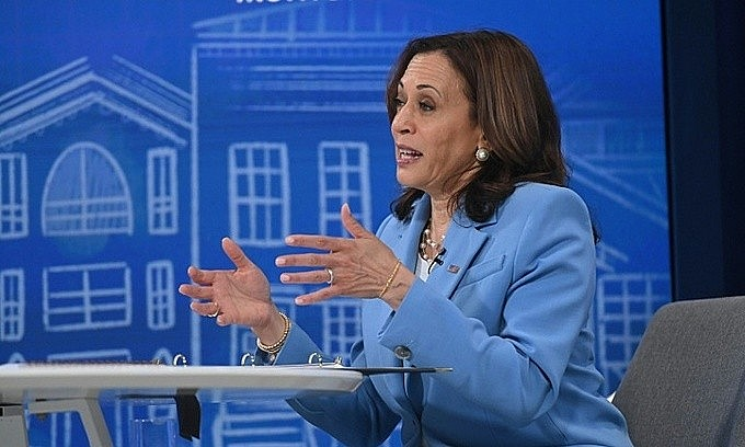 Kamala Harris will become the first sitting U.S. vice president ever to visit Vietnam. Photo by AFP/Mandel Ngan.