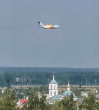 Russian Prototype Military Plane Crashes Near Moscow, Killing All Three on Board