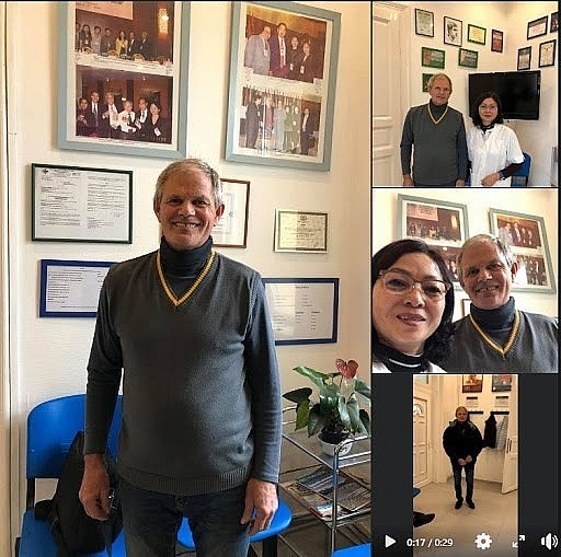 58-year-old Hungarian Albert Laszlo has been a regular patient of Oanh for the last 21 years. (Photo courtesy of Dr. Le Thuy Oanh)