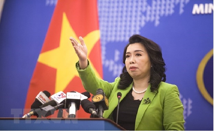 vietnam opposes chinas military drills missile firing in bien dong sea south china sea
