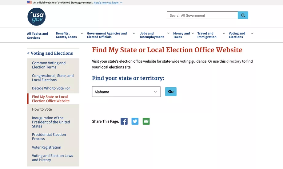 us presidential election how to vote by mail