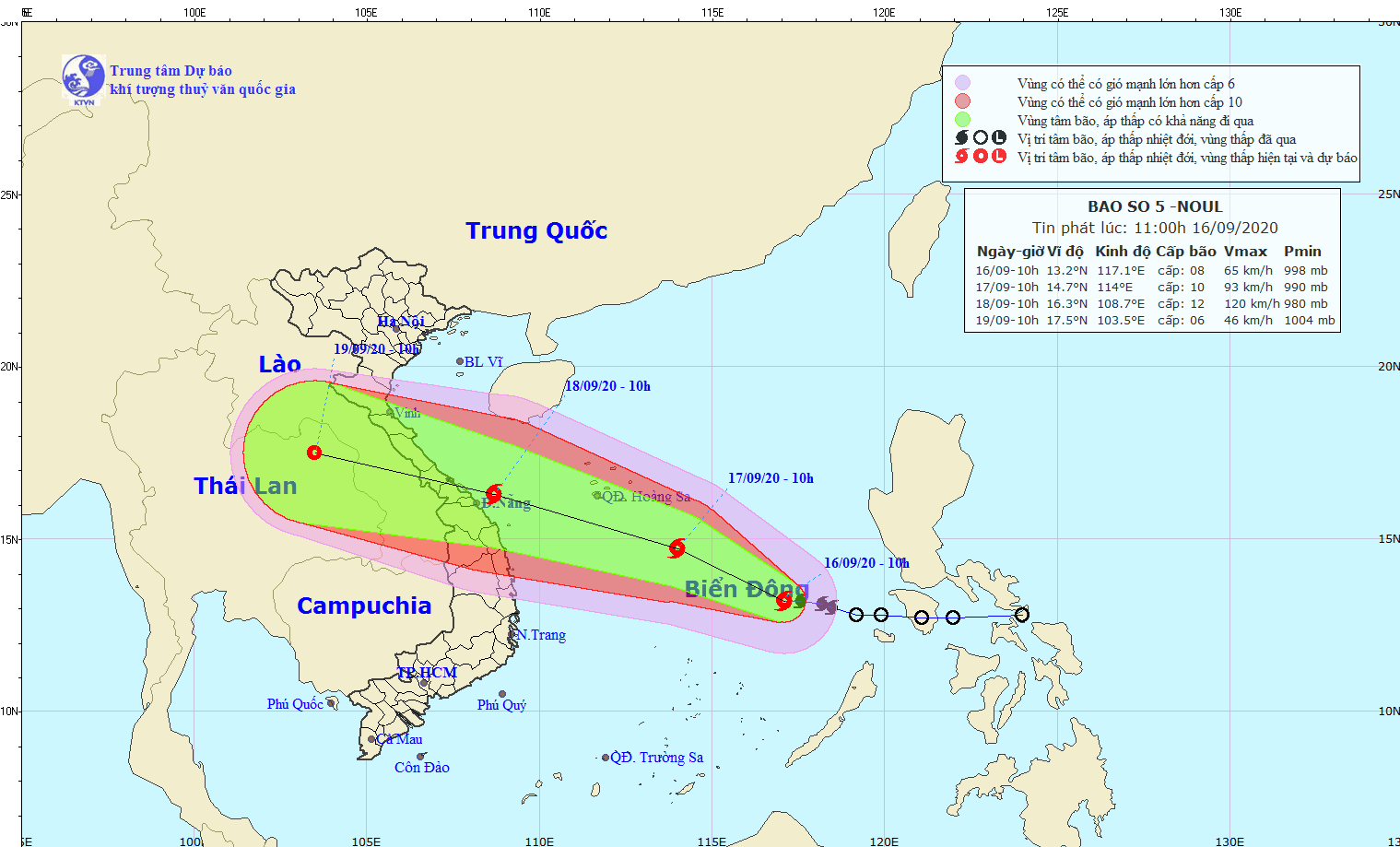 tropical storm noul heading towards central vietnam