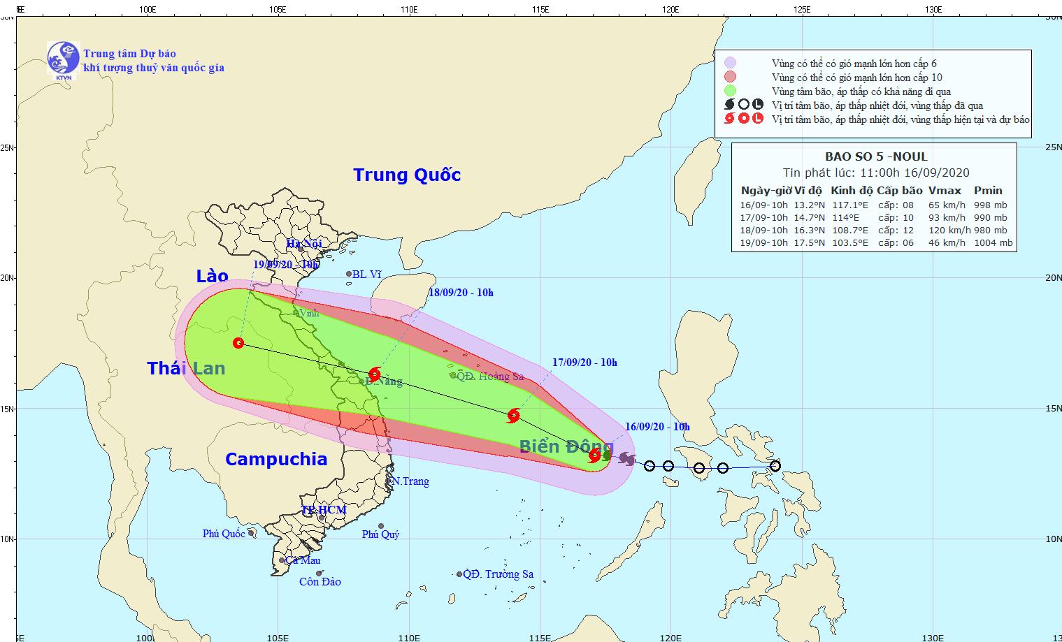 tropical storm noul heading towards central vietnam