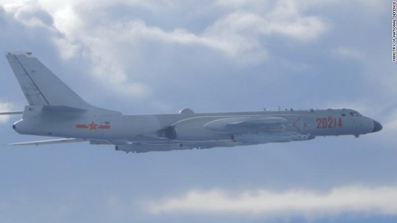 Taiwan leader calls China's sending warplanes a threat