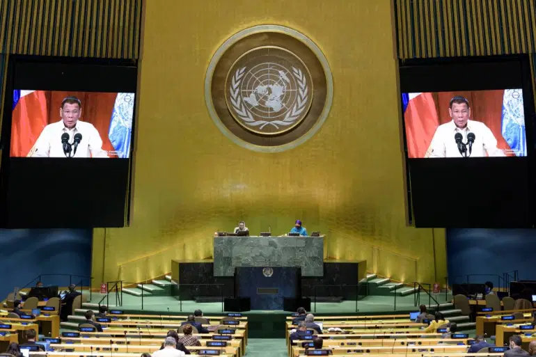 philippine president strongly defends court ruling against china in un speech