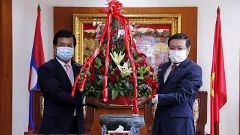 Lao Officials Congratulate Vietnam on National Day  (September 2)