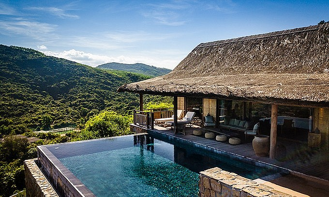 A villa with infinity pool at Zannier Hotels Bai San Ho in Phu Yen Province. Photo courtesy of Zannier Hotels Bai San Ho