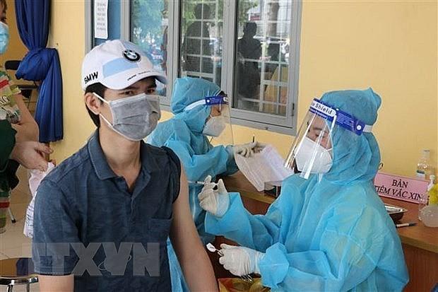 COVID-19 vaccination in HCM City (Photo: VNA)
