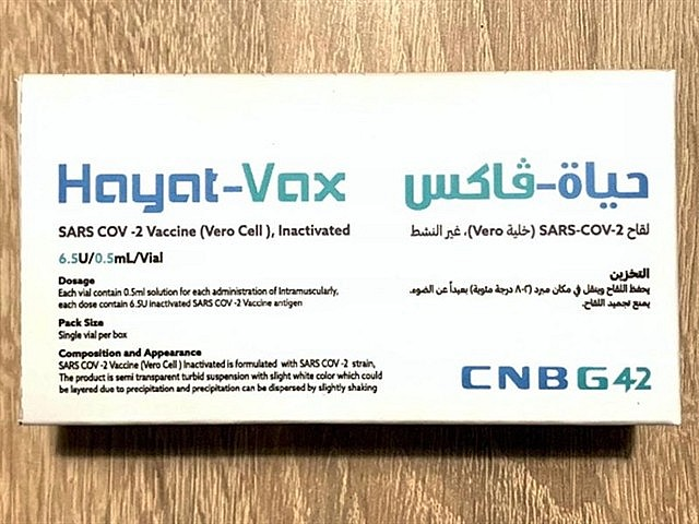 Hayat-Vax is the same Sinopharm CNBG's BiBP inactivated vaccine that was officially registered by the UAE Ministry of Health and Prevention on December 9, 2020 and subsequently by the Chinese Center for Drug Evaluation on December 30, 2020. — Photo courtesy of G42 Healthcare/Julphar