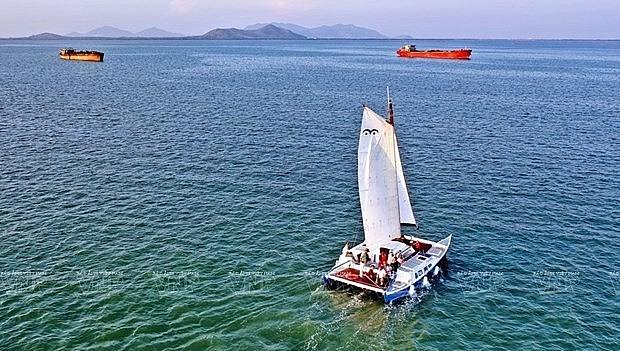 A boat sails on Vung Tau sea (Source: VNA)