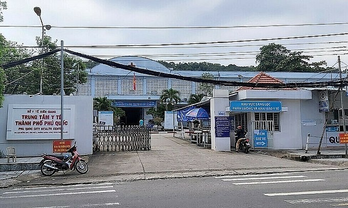 Phu Quoc medical center where people linked to a new community infection cluster are quarantined, September 20, 2021. Photo by VnExpress