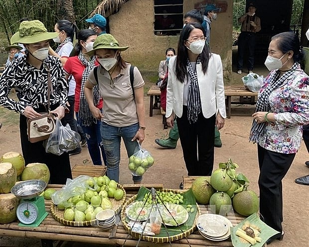 HCM City's Cu Chi district welcomes visitors after a long period of social distancing due to the COVID-19 pandemic. (Photo: VNA)
