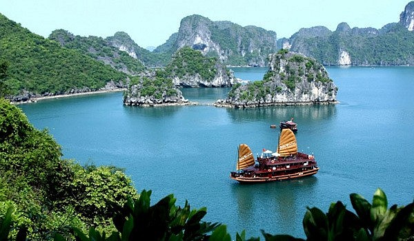 Ha Long Bay- UNESCO-recognised heritage site in the northern province of Quang Ninh.