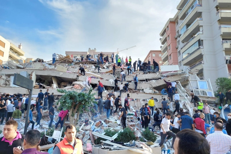 19 dead after huge 7.0-magnitude tremor collapses buildings in Turkey, Greece