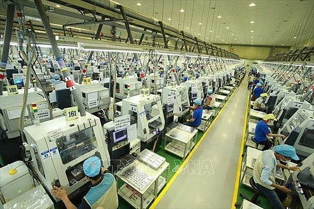 A production line of a foreign invested firm in Thai Nguyen province. (Photo: VNA)